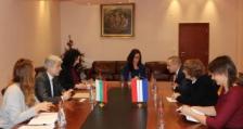 Министър Димов се срещна с посланика на Кралство Нидерландия