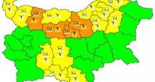 За утрешния ден НИМХ обявява оранжев код за 4 области на страната